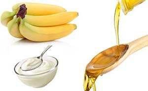 банан мед йогурт