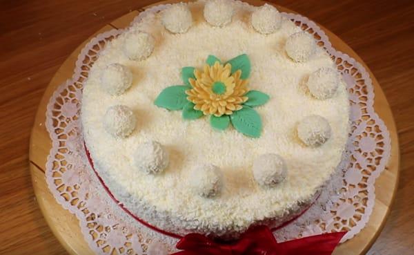 торт рафаэлло с творогом