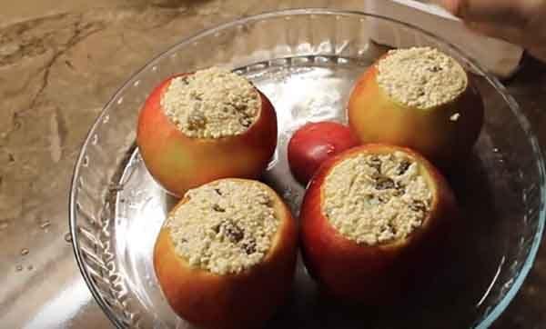 Фитнес-рецепты запеченных яблок с творогом