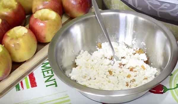 творог яблоки духовка