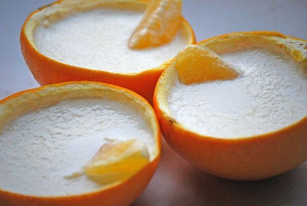 бланманже в апельсине